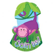 'Jungle Animals' Invitations 8pcs